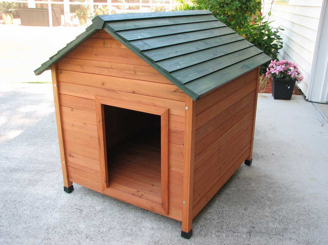 Cedar dog house discounted special offer order online insulated