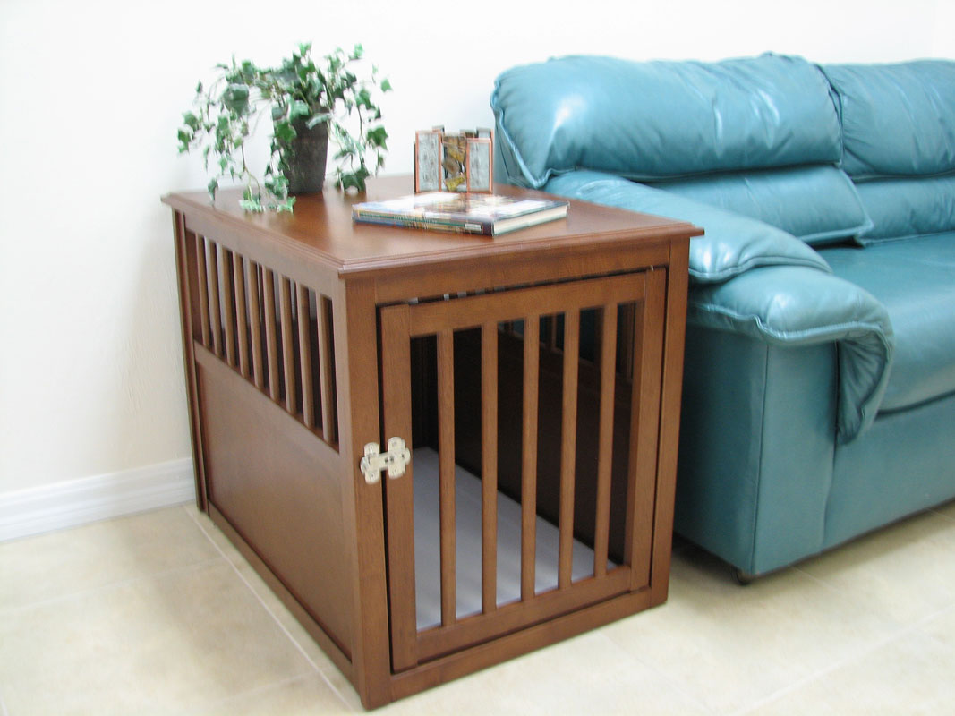 Wood pet crate for Sofa table dog crate