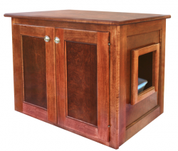 Handcrafted Cat Litter Box   End Table