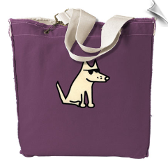Plum Teddy Canvas Tote