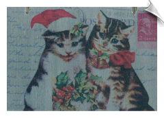 Vintage Postcard Magnet Boards & Holiday Ornaments - Cats