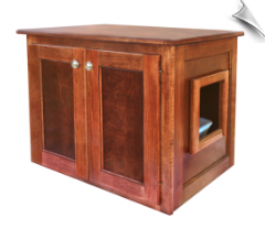 Handcrafted Cat Litter Box - End Table