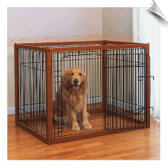 Richell Wood Pet Pen - Large