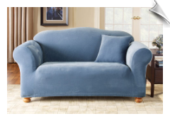 Stretch Pique One Piece-Loveseat & Sofa