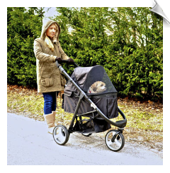 Midnight Black Imperial™ Pet Stroller
