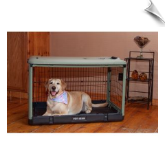 "The Other Door™ Steel Crate - Sage 27"" to 36"""