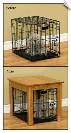 Handcrafted Dog Crate Cover
