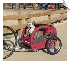 Track'r HoundAbout Pet Bicycle Trailer-Medium