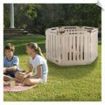 Convertible Indoor/Outdoor 6 Panel Pet Playpen & Gate