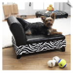Pet Zebra Bed with Storage