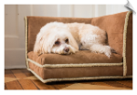 Chestnut Shearling Corner Pet Bed