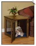Handcrafted Wire Dog Crate - End Table