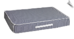 Rectangle Patio Cushion - Marine Stripe