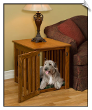 Handcrafted Dog Crate - End Table
