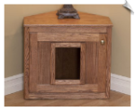 Handcrafted Corner Cat Litter Box Furniture