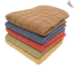 Box Quilt Microfiber and Sherpa Throw